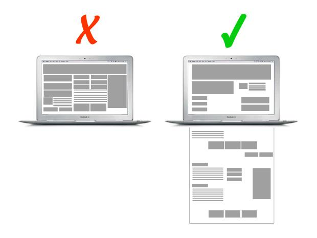 Reduce the size of the above-the-fold content