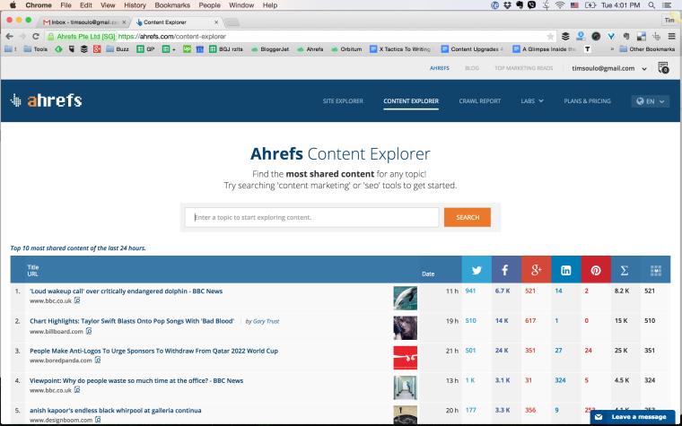 آموزش جستوجوگر محتوای Ahrefs