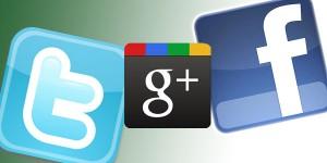 فیسبوک توییتر گوگل پلاس