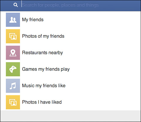 Facebook Search Bar Screenshot